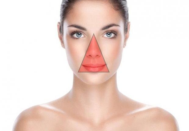 μην σπάτε σπυράκια στο πρόσωπο κοντά στη μύτη και στα χείλη
