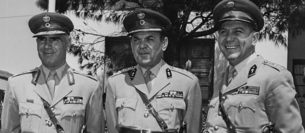 οι συνταγματάρχες που έκαναν το πραξικόπημα στην Ελλάδα
