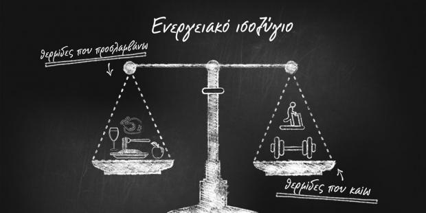 ενεργειακό ισοζύγιο πρόσληψης και κατανάλωσης θερμίδων