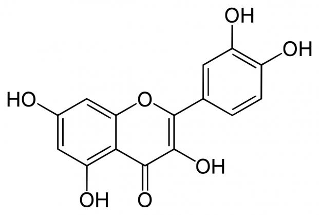 η χημική ουσία κουερσετίνη