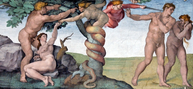η αποπομπή των πρωτόπλαστων από τον παράδεισο