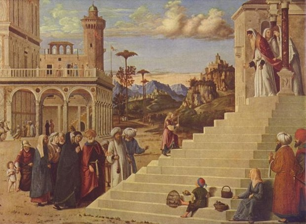 Πίνακας του Τζιοβάνι Μπατίστα Τσίμα για τα Εισόδια της Θεοτόκου