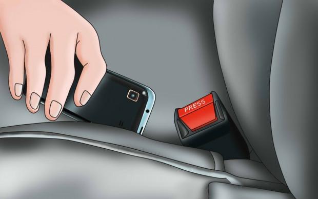 κρύψτε ένα κινητό ή ένα τάμπλετ στο αμάξι