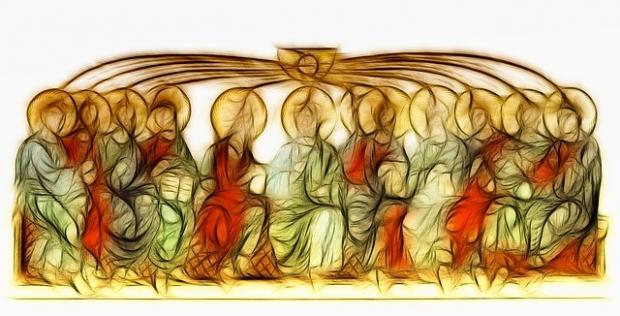 η επιφοίτηση του Αγίου Πνεύματος με την μορφή πύρινων γλωσσών