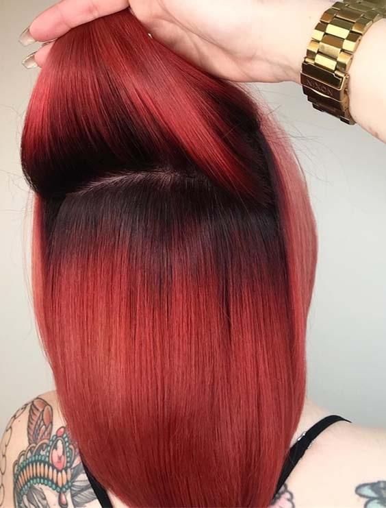 τα κόκκινα μαλλιά θέλουν συχνότερη επανάληψη της βαφής και μάλιστα πρέπει να βάφονται όλα και όχι μόνο πχ η ρίζα