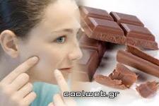 σοκολάτα σπυράκια