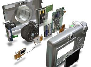 εσωτερικό ψηφιακής φωτογραφικής μηχανής
