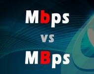 διαφορά Mbps με το MBps