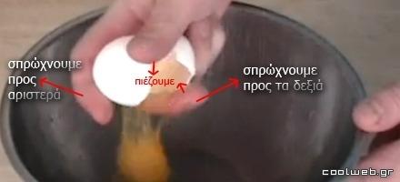 άνοιγμα αυγού