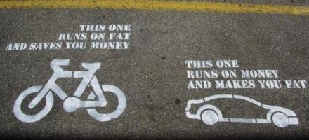 ποδήλατο και αυτοκίνητο