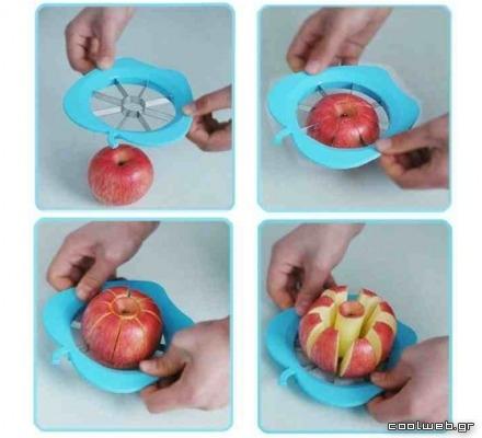 ξεφλούδισμα και καθάρισμα μήλου