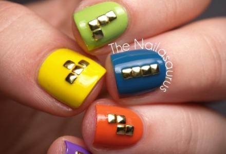 νύχια σε στυλ tetris