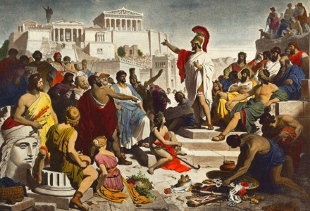 η άμεση δημοκρατία στην αρχαία Αθήνα