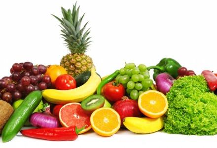 υγιεινή διατροφή με φρούτα και λαχανικά