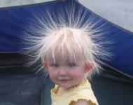 στατικός ηλεκτρισμός στα μαλλιά