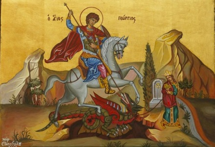 Ο Άγιος Γεώργιος σκοτώνει τον δράκο