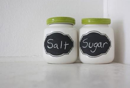 κόψτε το αλάτι και την ζάχαρη