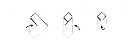 δίπλωμα μαντηλιού τρίγωνο