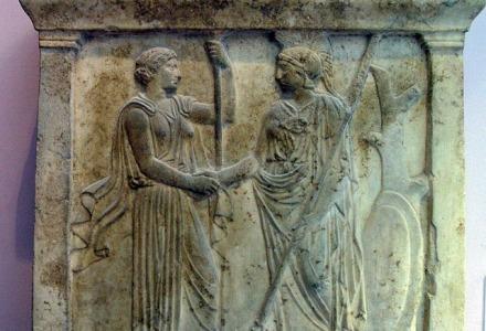 χειραψίες γινόταν και στην αρχαία Ελλάδα