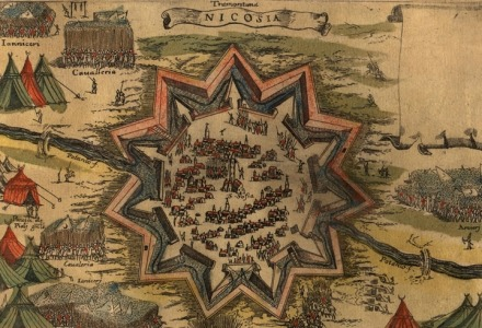 χάρτης που αναφέρει το όνομα Nicosia